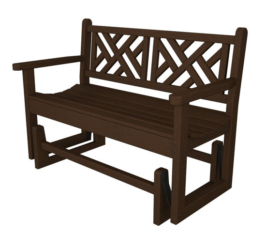 48 Inches Recycled Chippendale Outdoor Patio Glider Bench