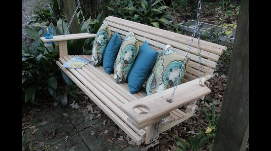 5 Foot Handmade Cypress Porch Swing