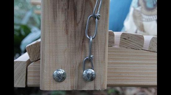 5 Foot Handmade Cypress Porch Swing