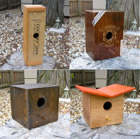 Atomic Birdhouses