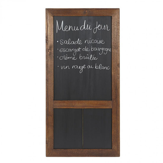 Bambeco Reclaimed Wood Cafe Chalkboard