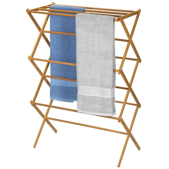 Bamboo Folding Clothes Drying Rack Will Let Your Hang Your Clothes ...