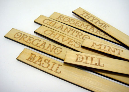 Bamboo Herb Marker