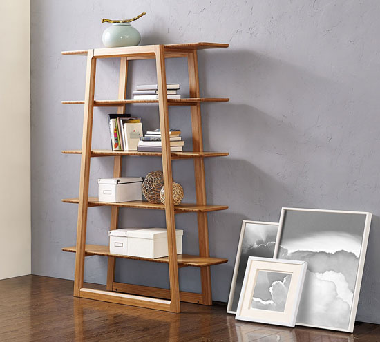 Bamboo Greenington Currant Etagere Bookcase