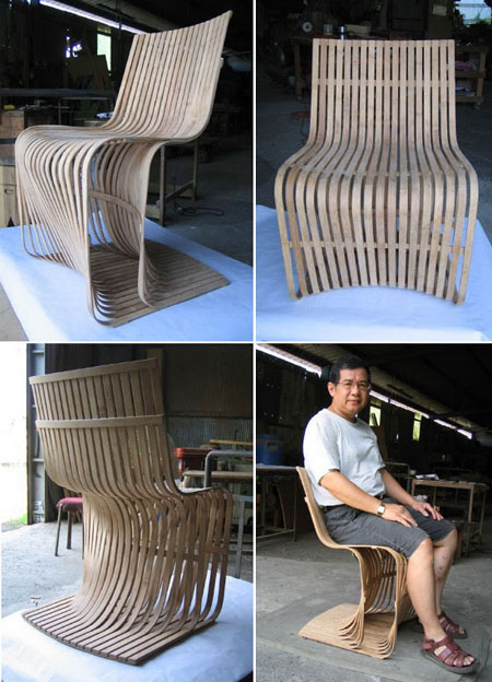 Bamboo Slats Chair