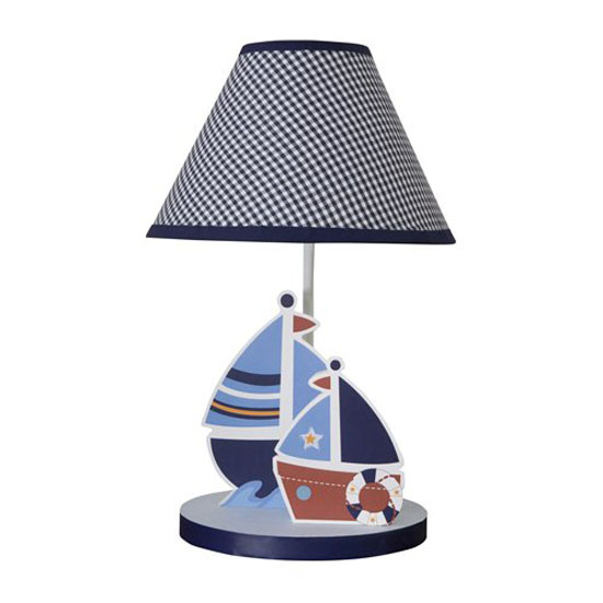 bedtime originals sail away lamp with shade and bulb lets your baby. Black Bedroom Furniture Sets. Home Design Ideas
