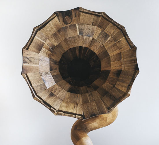 Bellaphone No.7 : Horn Speaker Made from a Herradura Tequila Barrel by Fiddle + Hammer