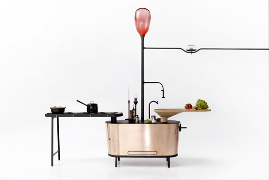 Bio-digester Kitchen Island