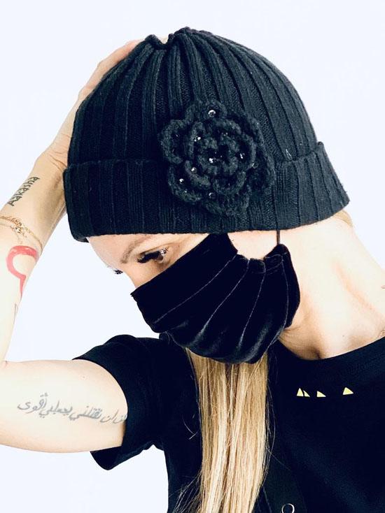 Handmade Black Velvet Reusable Face Mask