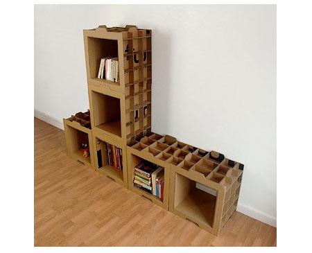 Cardboard Bookshelf