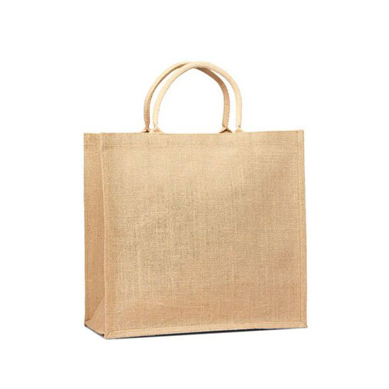 Carry Green Eco friendly Jute or Burlap Natural Large Grocery Shopping Tote