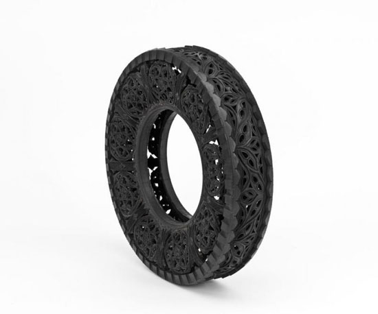 Carved Car Tire