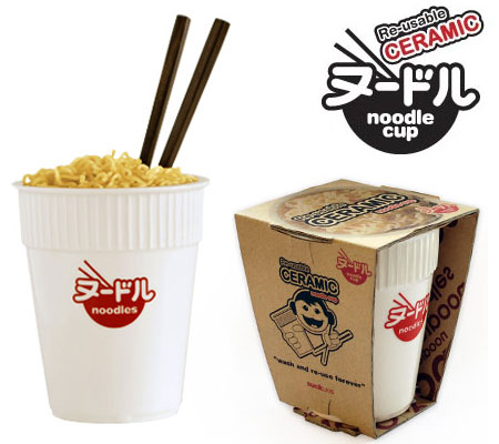 Ceramic Noodle Cup : An Earth Friendly Alternative to Styrofoam Cups