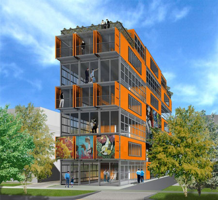 city center lofts eco friendly container condos