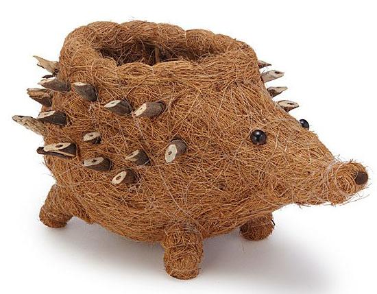 Coconut Fiber Hedgehog Planter