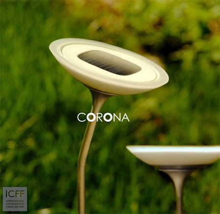Corona solar powered outdoor lighting system green design blog corona solar light mozeypictures Choice Image