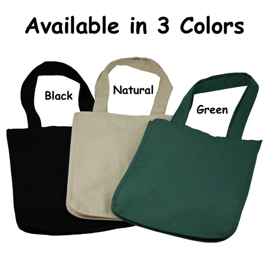Shop With Care To The Environment Using Deluxe Organic Cotton Grocery Bag With Bottle Sleeves