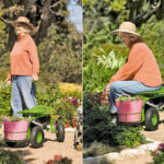 Deluxe Tractor Scoot with Bucket Basket Helps You Gardening More Comfortable