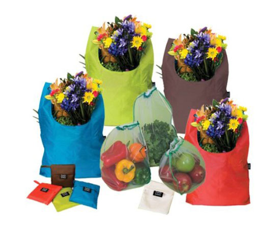 EarthSAKS Reusable Eco Shopping and Produce Bag Set
