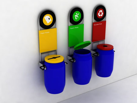 Eco bin invites people to live sustainably green design - How to decorate a dustbin ...