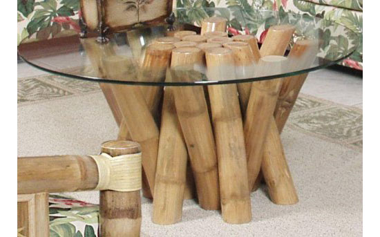 Eco-friendly Aloha Bamboo Bundled Coffee Table