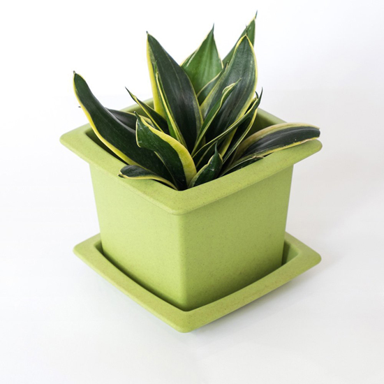 Eco-Friendly Biodegradable Wood Fiber Stackable Flower Pot