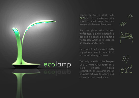 The Eco Lamp Design Will Definitely Help You Save Energy On