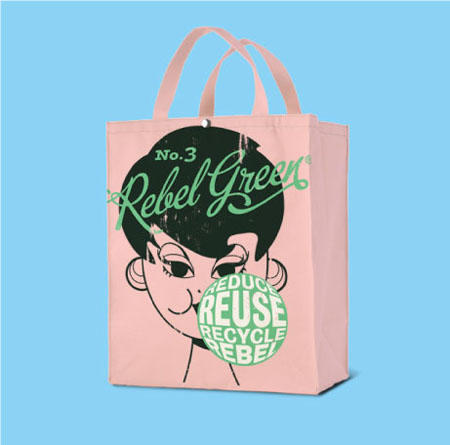 Rebel Green Tote Bag