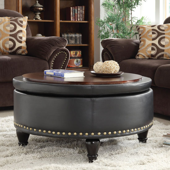 Ellen Eco Leather Storage Ottoman by Darby Home
