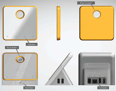 evo pc concept made of sustainable materials