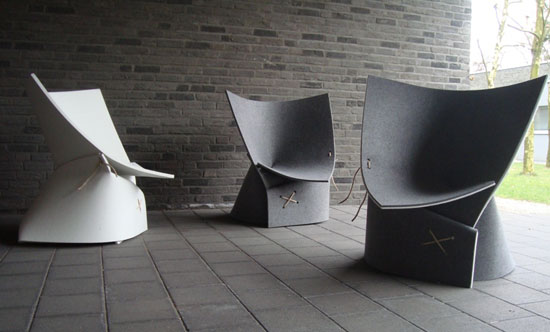FF1 Indoor Lounge Chair by James Van Vossel and Tom de Vrieze ...