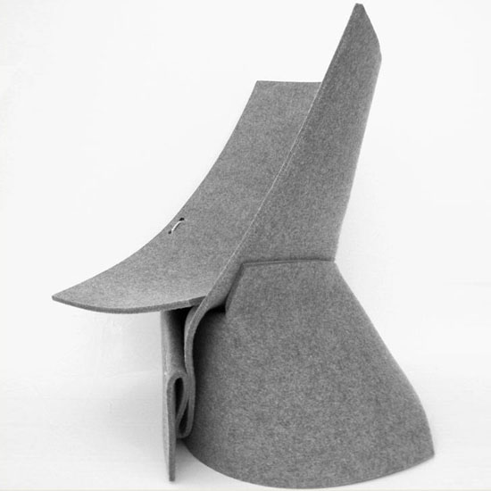 FF1 Indoor Lounge Chair by James Van Vossel and Tom de Vrieze