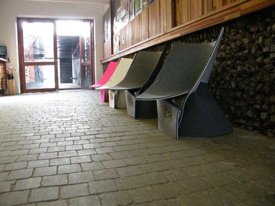 FF1 Indoor Lounge Chair by James Van Vossel and Tom de Vrieze