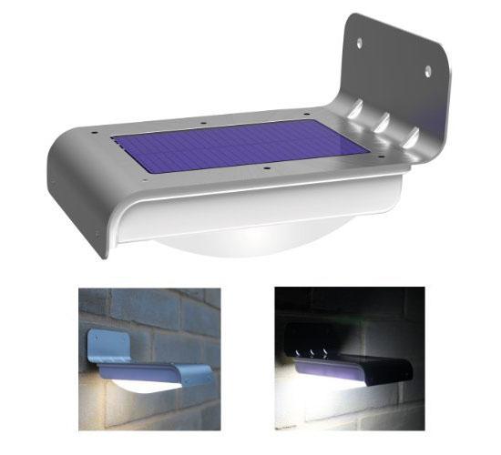 Frostfire LED Wireless Solar Powered Motion Sensor Light