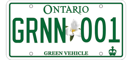 Green License Plate