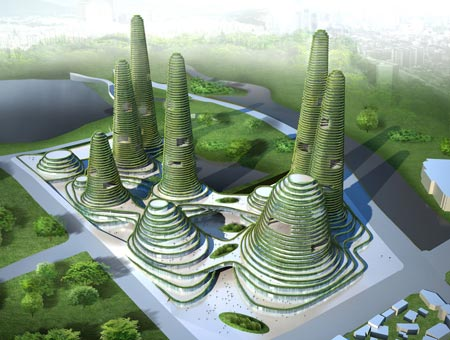 Gwanggyo Power Center with Plantations Around Terraces by MVRDV