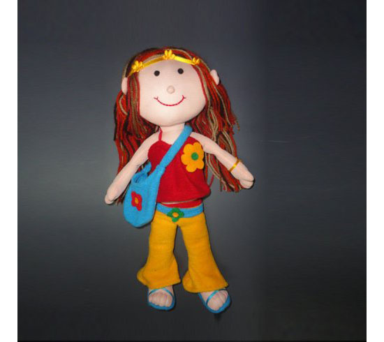 Handmade Fashion Hippy Plush Doll Toy