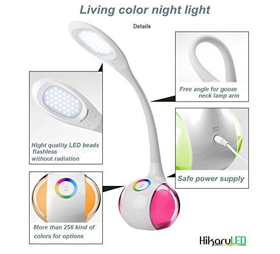 HikaruLED Innovative Touch LED Desk Lamp