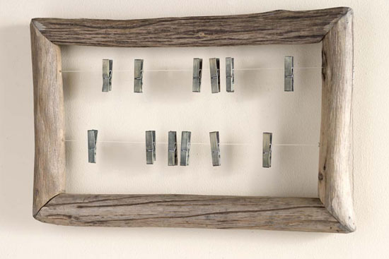 Horizontal Fir Branch Framed Pin Board