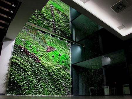 indoor vertical garden brings fresh air to buildings
