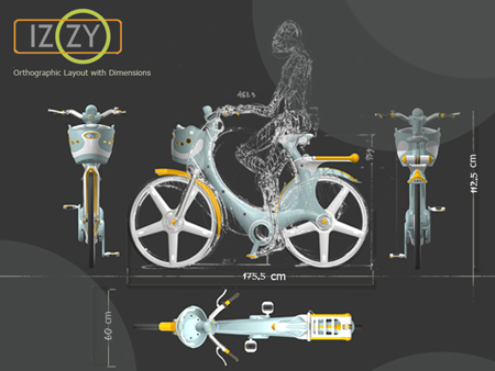 izzy city bike for green environment