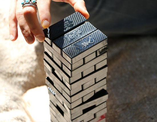 Jenga Ocean is Made from 100% Recycled Fishing Nets by Bureo