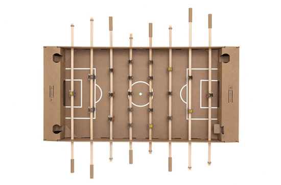 Kartoni I Love To Kick Cardboard Foosball Table