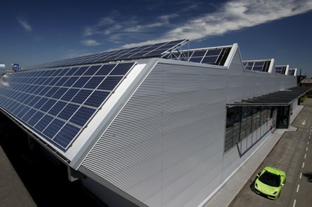 Lamborghini's Solar Powered Factory