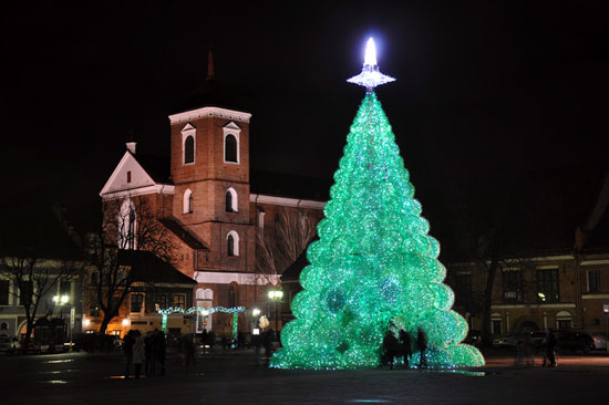 Largest Christmas Tree Made Of Recycled Plastic Bottles