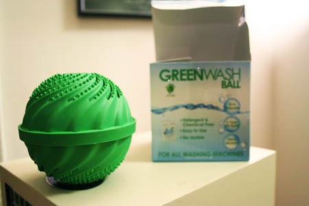 The GreenWashBall, A Detergent Substitute