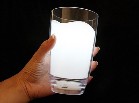Milk Glass LED Light for Night Light Lamp