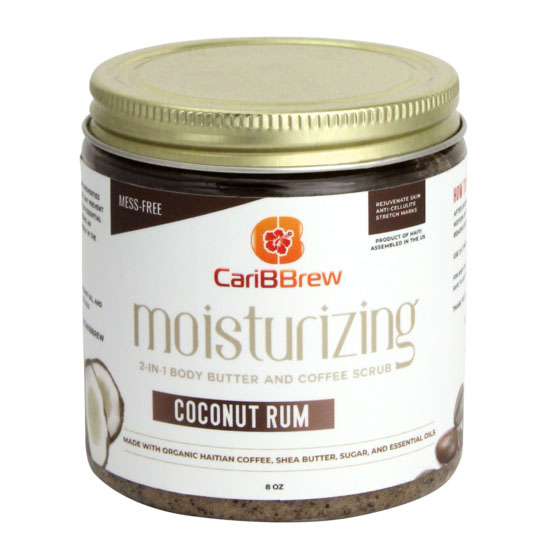 Moisturizing Haitian Coffee Scrub - Coconut Rum by Caribbrew