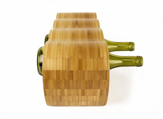 Monolith Modern Design Bamboo 6-bottle Wine Rack by Hala