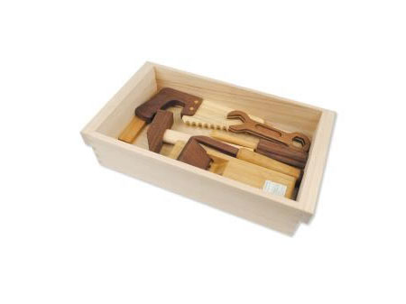 Natural Wooden Toy Tool Set